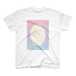 グラデ便箋・ふんわり T-shirts