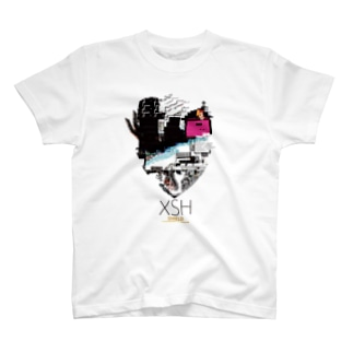 SHIELD(XSH ) グリッチデザイン T-shirts