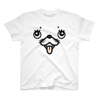 犬顔 T-shirts