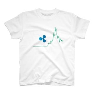 リップルチャート T-shirts