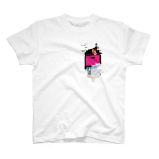 SHIELD(XSH) グリッチデザイン シエル T-shirts