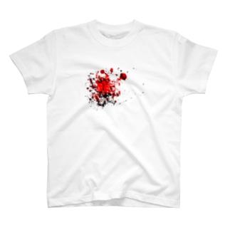 血飛沫 T-shirts