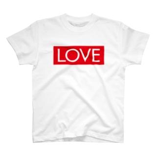 LOVE 赤ラベル T-shirts