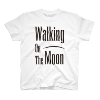 WALKING ON THE MOON BLK T-shirts