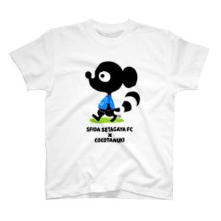スフィーダ世田谷FC×ココタヌキ コラボグッズ達 T-shirts