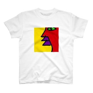 profile (横顔) T-shirts