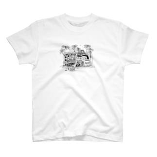 BEACH WAGON Tee T-shirts