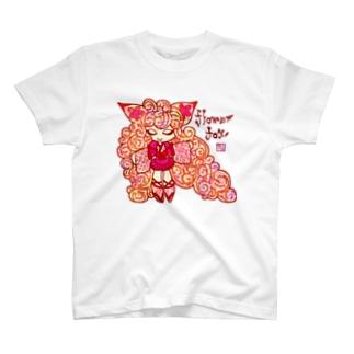 """❀花狐庵❀ """"Fox❀girl"""" T-shirts"""