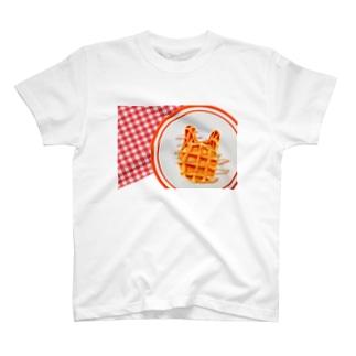 うさぎ わふー ぴくにっこ T-shirts