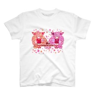 """❀花狐庵❀ """"Fox❀girls"""" T-shirts"""