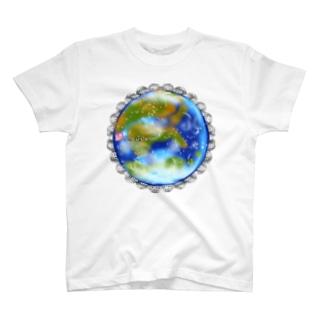 「花籠」Series * planetflower_blueplanet T-shirts