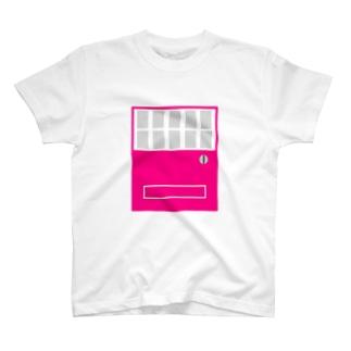 自販機pink×gray T-shirts