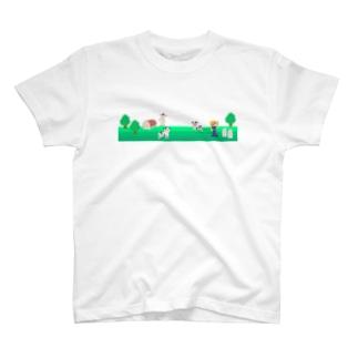 牧場の風景シリーズ Tシャツ