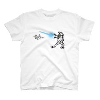鳥獣人物戯画 カメハメ波 T-shirts