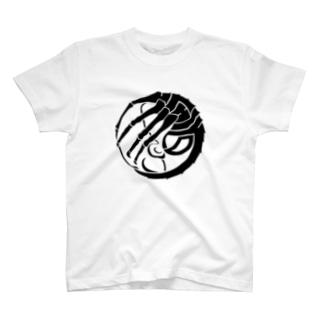 SF家紋「顔に壽海老」 Tシャツ