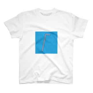 ストロー(赤) T-shirts