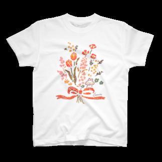 *momochy shop*の花束とうさぎ T-shirts