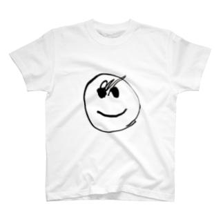 我が子が4回目に描いた顔 T-shirts