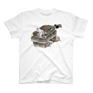 和もの雑貨 玉兎の百鬼夜行絵巻 妖怪たちが閉じ込められた葛籠【絵巻物・妖怪・かわいい】 T-shirts