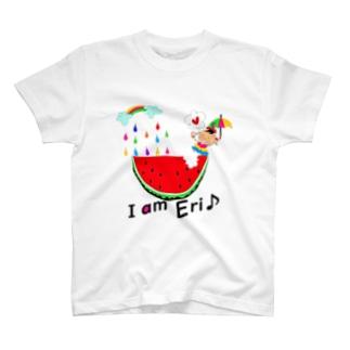 スイカのi am...(名入り) T-shirts