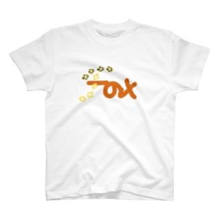 狐(文字だけ) T-shirts