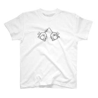ぶんぶん文鳥(黒線) T-shirts