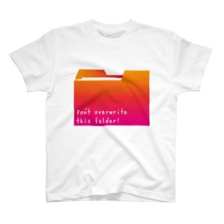 フォルダピンク T-shirts