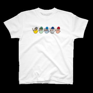 やるきないお店のやるきない野球(いろいろ) Tシャツ