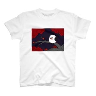 花札「梅とナガオくん」紫 T-shirts