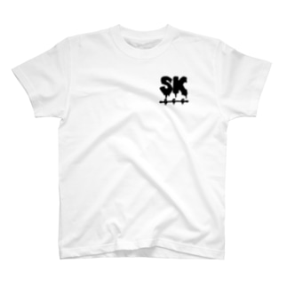 SK Strikethrough(666) Clothing - First Line White T-shirts