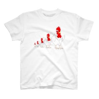 チキンと整列 T-shirts