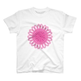 flower pink Tシャツ