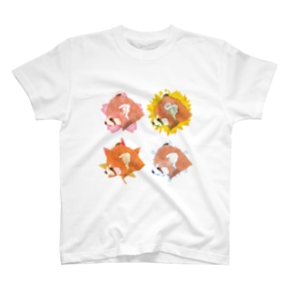 四季とレッサーパンダ白 T-shirts