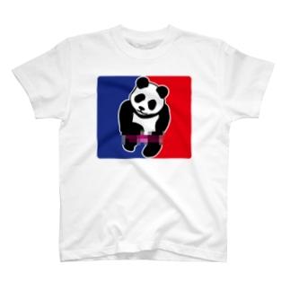 パンダトルネードパンティ脱ぎ モザイク T-shirts