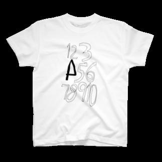 杉浦 智史の数字 T-shirts