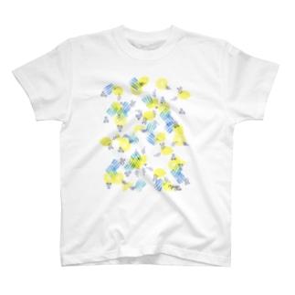 イラストレーター おおでゆかこのレモンとペンギン T-shirts