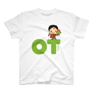 OTJAPONのシュプとヲタッチとグリーンロゴ T-shirts