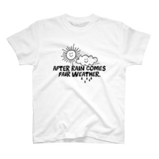 雨降って地固まる(モノクロ) T-shirts