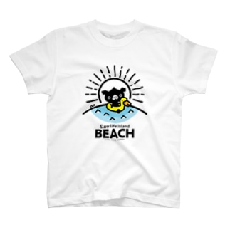 octon Slow life Island BEACH #basic T-shirts