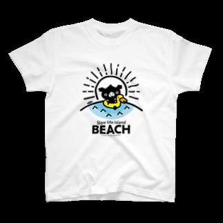 はちエンピツのocton Slow life Island BEACH #basic T-shirts