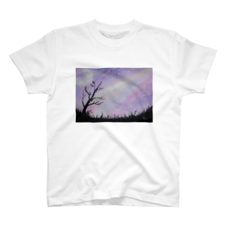 。(テン)オリジナルの空と月 T-shirts