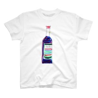 ワインボトル T-shirts