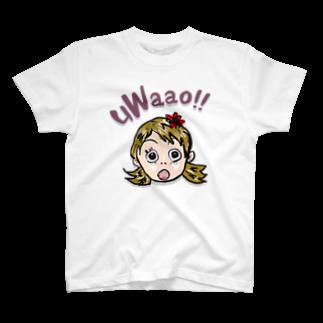 honey-designのuWaao T-shirts