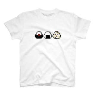 おにぎり【ドット】 T-shirts