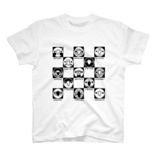 トリドリ(モノクロ) T-shirts