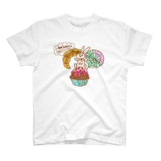 美味しいもの大好き!でも… T-shirts
