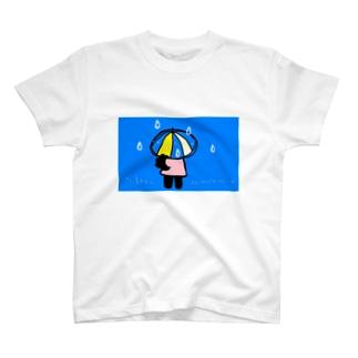雨の日のクローネちゃん T-shirts