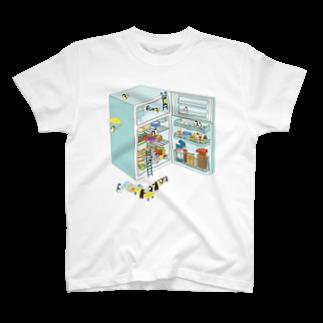 ムクデザインのペンギン サマーリゾート T-shirts