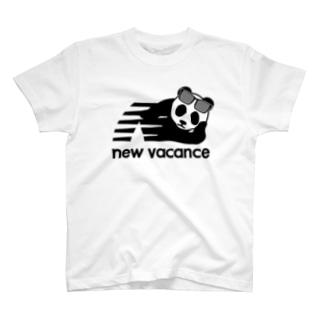 ニューバカンス・パンダ サングラス外し(new vacance) 2018夏モデル T-shirts