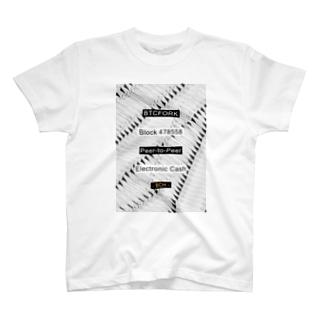 BTCFORK メンズTシャツ T-shirts